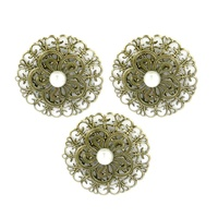Ultimate Crafts Ornate Metal Flowers L'Aquarelle 3pc