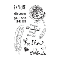 "Ultimate Crafts Stamp 4x6"" L'Aquarelle You Are Beautiful Inside"