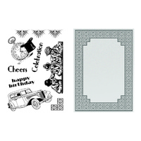 Ultimate Crafts Stamp Emboss Set The Ritz Collection Cubic Celebration