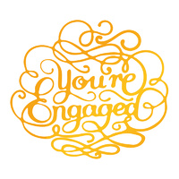 Ultimate Crafts Hotfoil Stamp Classic Sentiments You're Engaged