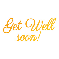Ultimate Crafts Hotfoil Stamp Classic Sentiments Get Well Soon