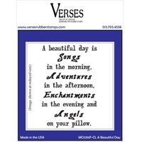 Verses Cling Rubber Stamp A Beautiful Day