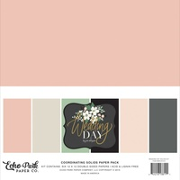 "Echo Park Wedding Day 12"" Collection Kit Solids"