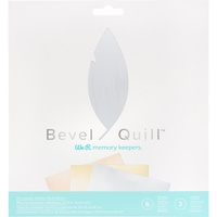 "We R Memory Keepers Bevel Quill Board 8"" Sheets 6pk"