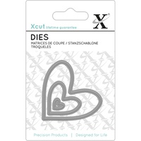 Xcut Mini Decorative Die Nesting Hearts 3pk