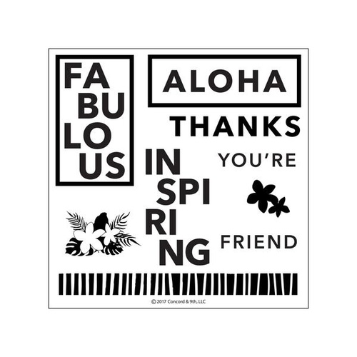Concord & 9th Clear Stamp Set Aloha Friend