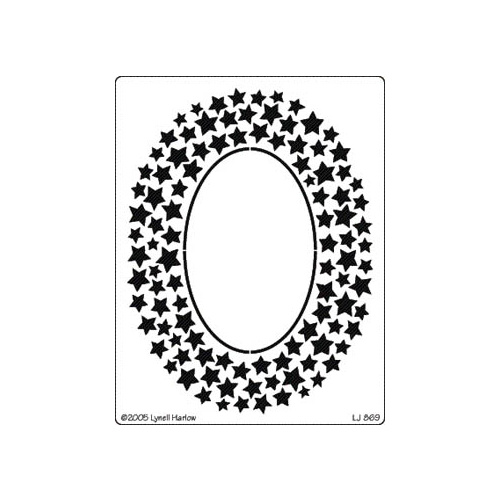 Dreamweaver Stencil Star Oval