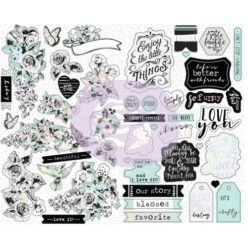 Prima Flirty Fleur Sticker Sheets