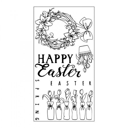Sizzix Clear Stamps Happy Easter by Katelyn Lizardi