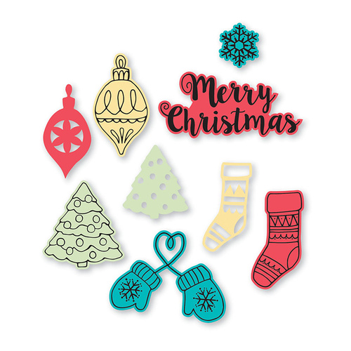 Sizzix Framelits Die & Stamp Set Christmas Classics