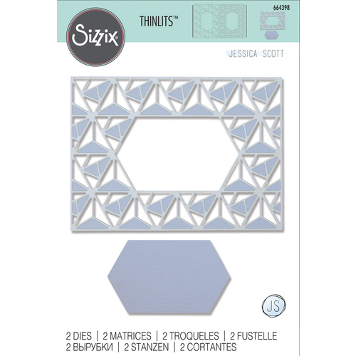 Sizzix Thinlits Die Geo Lattice Frame