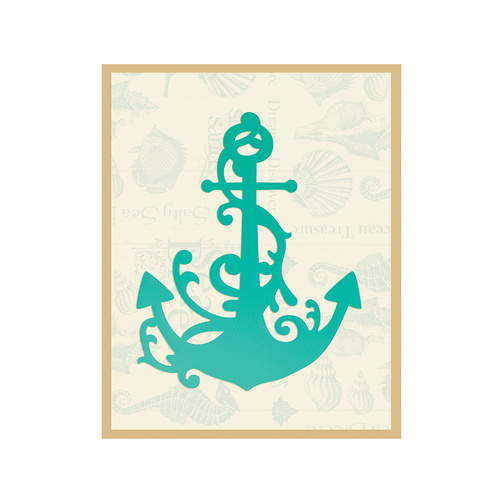 Couture Creations Sea Breeze Die Anchored Flourish 60x75mm