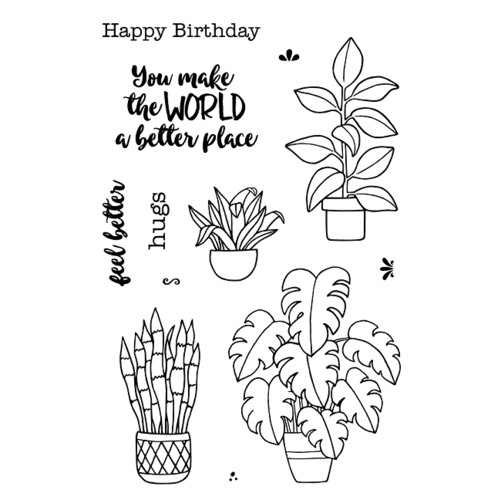 Jane's Doodles Clear Stamp Plants