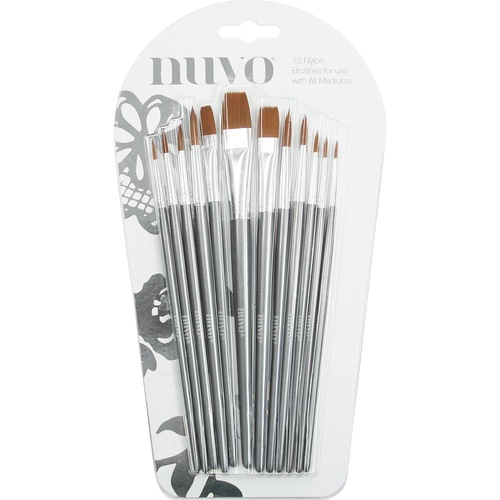 Nuvo Paint Brushes 12pk