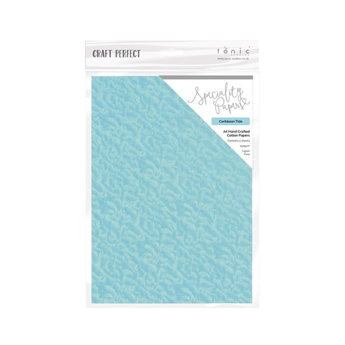 Craft Perfect Caribbean Tide A4 Hand Crafterd Cotton Paper