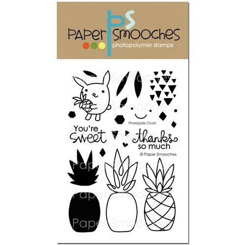 "Paper Smooches Stamp 4x6"" Pineapple Crush"