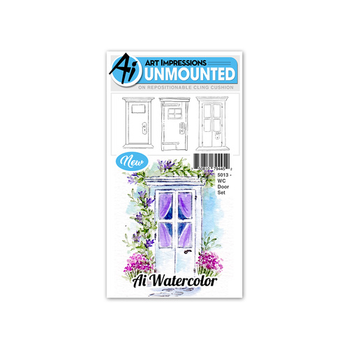 Art Impressions Watercolours Stamp Set Door