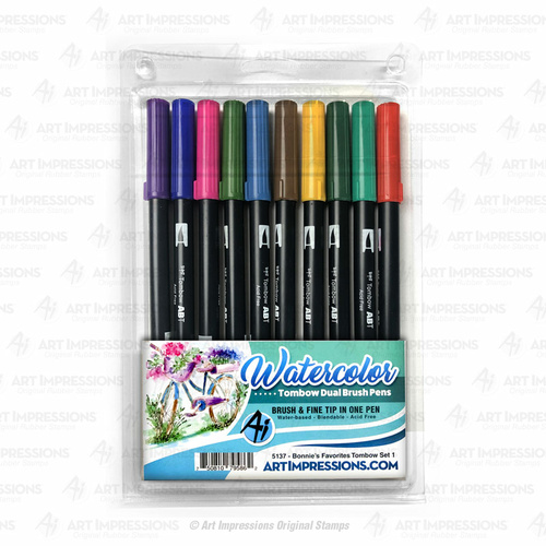 Art Impressions Tombow Dual Brush Pen Set Bonnie's Favourites #1