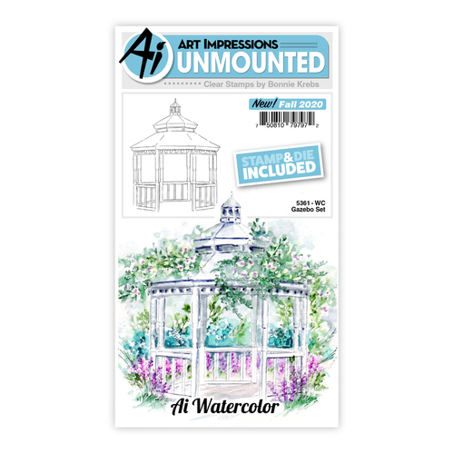 Art Impressions Watercolours Gazebo Stamp & Die Set