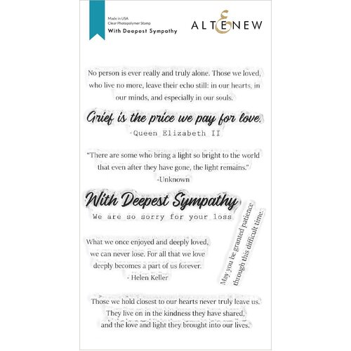 Altenew Stamp With Deepest Sympathy
