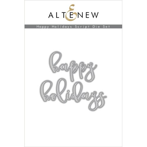 Altenew Happy Holidays Script Die Set