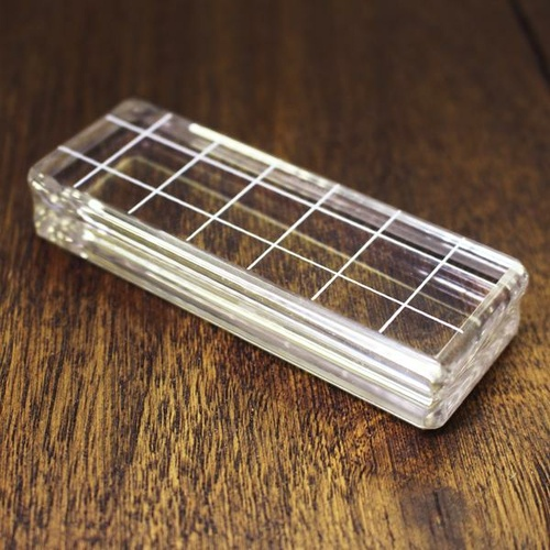 "Catherine Pooler Acrylic Grid Stamping Block #3 1.25"" x 3.5"""