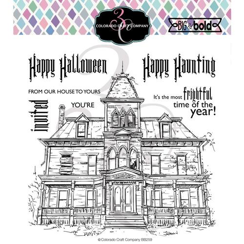 Colorado Craft Company Big & Bold Stamp Haunted House