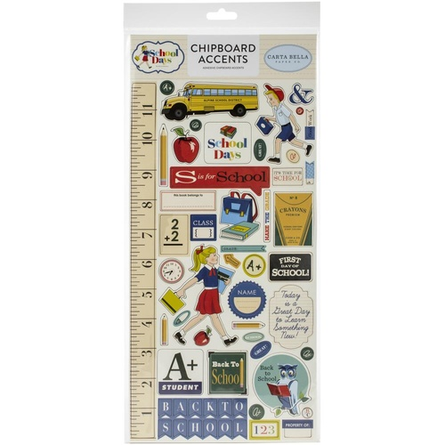 Carta Bella School Days Chipboard Accents