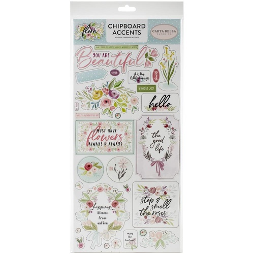 Carta Bella Flora No.3 Chipboard Accents