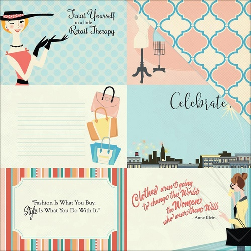 Carta Bella Metropolitan Girl Paper Journaling Cards 4x6""
