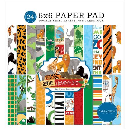 "Carta Bella Zoo Adventure 6"" Paper Pad"