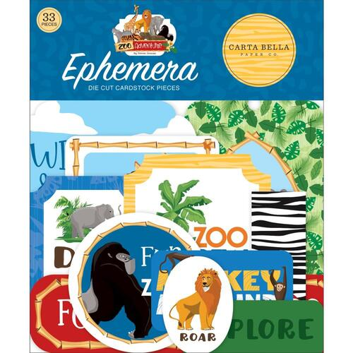 Carta Bella Zoo Adventure Diecut Ephemera Icons