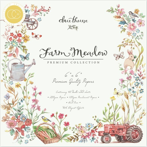 "Craft Consortium Farm Meadow 6"" Premium Paper Pad"