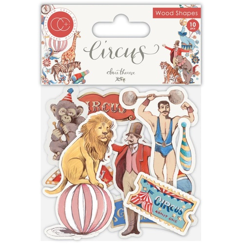 Craft Consortium Circus Laser Cut Wooden Shapes