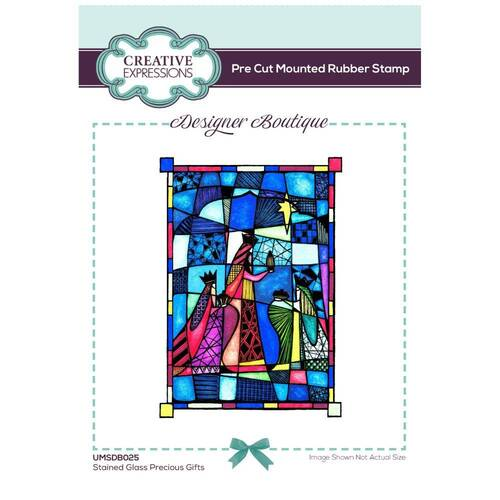 Creative Expressions Designer Boutique Stamp Precious Gifts Stained Glass