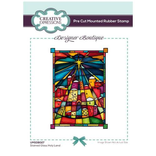 Creative Expressions Designer Boutique Stamp Holy Land Stained Glass