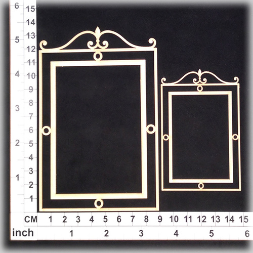 Scrapmatts Chipboard Shapes Ornate Frame 21   2pc