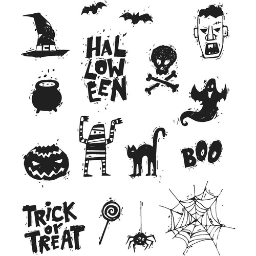 Stampers Anonymous Cling Rubber Stamp Spooky Scribbles