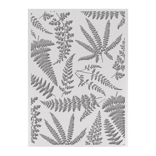 "Couture Creations C'est La Vie 5x7"" Embossing Folder Ferns"