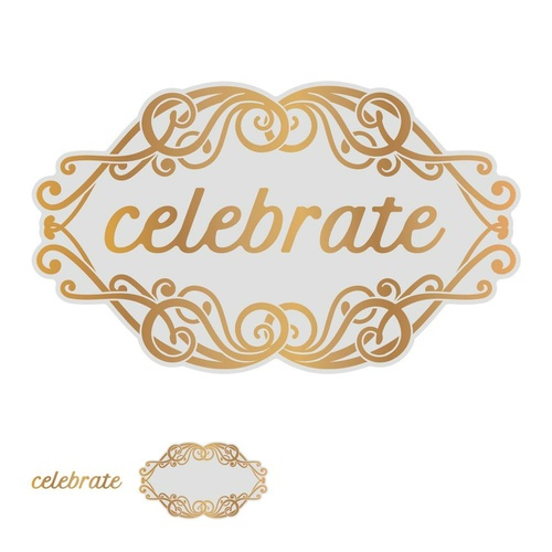 Couture Creations Gentlemans Emporium Cut Foil & Emboss Die Celebrate Tag
