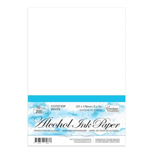 "Couture Creations Synthetic Paper White 5x7"" 10pk"
