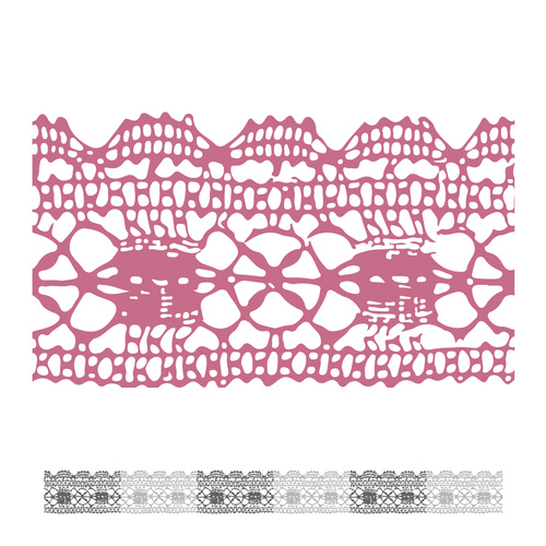 Couture Creations Peaceful Peonies Mini Stamp Lacey