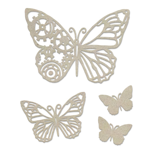 Couture Creations Steampunk Dreams Chipboard Steampunk Butterfly