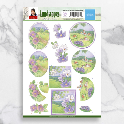 Couture Creations 3D Diecut Decoupage Sheet Spring Landscapes