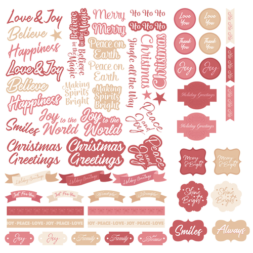 Couture Creations The Gift of Giving Die Cut Ephemera Sentiments Set