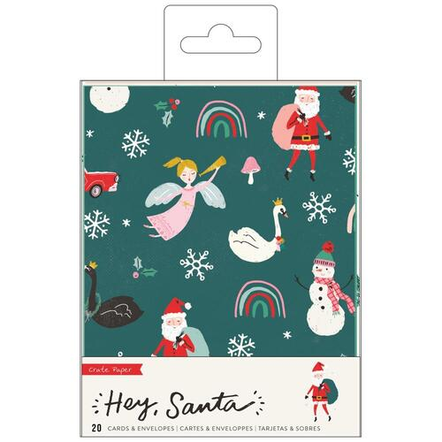 Crate Paper Hey Santa A2 Cards with Envelopes
