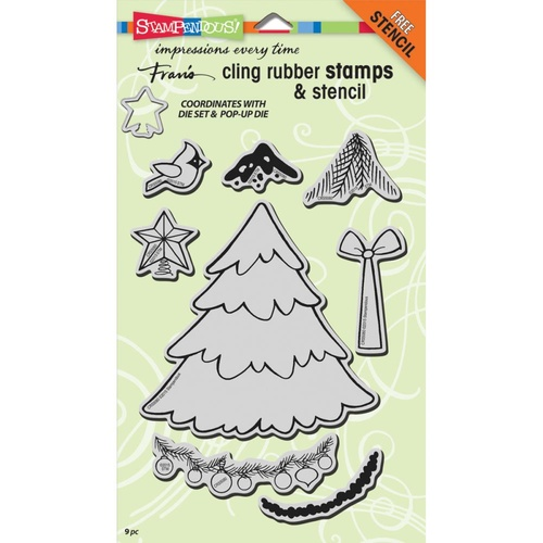Stampendous Cling Stamp Create Christmas Set