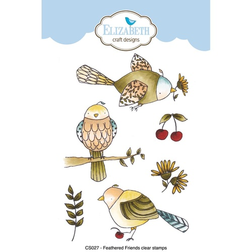 Elizabeth Craft Designs Stamp Feathered Friends by Krista Schneider