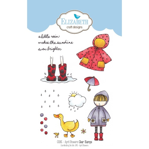 Elizabeth Craft Designs Stamp April Showers by Krista Schneider
