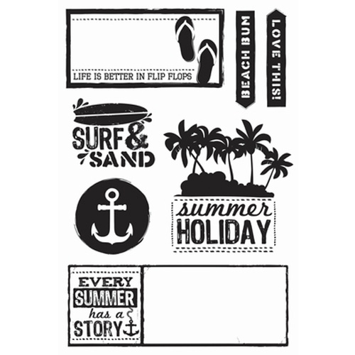 Kaisercraft Clear Stamp Sandy Toes